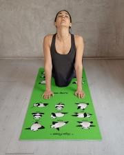Yoga Panda Pose Yoga Mat Yoga Mat 24x70 (vertical) aos-yoga-mat-lifestyle-17