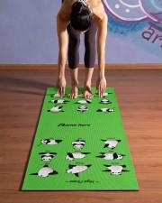 Yoga Panda Pose Yoga Mat Yoga Mat 24x70 (vertical) aos-yoga-mat-lifestyle-25