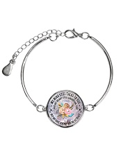 Floral Flowers My Mind Still Talks To You Necklace Metallic Circle Bracelet tile