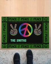 """Personalized Hippie peace symbol doormat  Doormat 34"""" x 23"""" aos-doormat-34-x-23-lifestyle-front-10"""