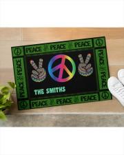 """Personalized Hippie peace symbol doormat  Doormat 34"""" x 23"""" aos-doormat-34-x-23-lifestyle-front-11"""