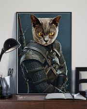 Funny Cat Warrior Poster 11x17 Poster lifestyle-poster-2
