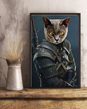 Funny Cat Warrior Poster 11x17 Poster lifestyle-poster-3