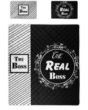 The boss the real boss quit bed set  Twin Quilt Bed Set front