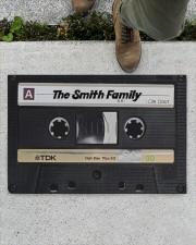 """Custom cassette tape doormat Doormat 22.5"""" x 15""""  aos-doormat-22-5x15-lifestyle-front-01"""