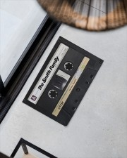 """Custom cassette tape doormat Doormat 22.5"""" x 15""""  aos-doormat-22-5x15-lifestyle-front-08"""