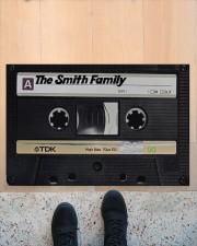 """Custom cassette tape doormat Doormat 22.5"""" x 15""""  aos-doormat-22-5x15-lifestyle-front-10"""