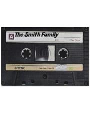 """Custom cassette tape doormat Doormat 22.5"""" x 15""""  front"""