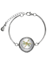 Hummingbird my mind still talks to you necklace Metallic Circle Bracelet tile