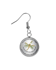 Hummingbird my mind still talks to you necklace Circle Earrings thumbnail
