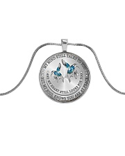 Hummingbird my mind still talks to you necklace Metallic Circle Necklace thumbnail