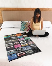 """cassette tapes blanket Small Fleece Blanket - 30"""" x 40"""" aos-coral-fleece-blanket-30x40-lifestyle-front-11a"""