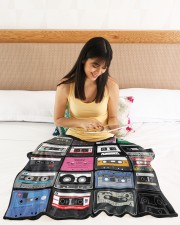 """cassette tapes blanket Small Fleece Blanket - 30"""" x 40"""" aos-coral-fleece-blanket-30x40-lifestyle-front-12a"""