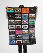 """cassette tapes blanket Small Fleece Blanket - 30"""" x 40"""" aos-coral-fleece-blanket-30x40-lifestyle-front-14a"""