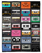 """cassette tapes blanket Small Fleece Blanket - 30"""" x 40"""" front"""
