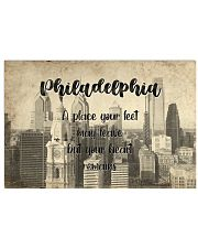 KT0001 Philadelphia A Place Your Feet May Leave 17x11 Poster front