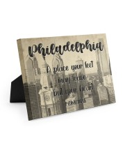 KT0001 Philadelphia A Place Your Feet May Leave Easel-Back Gallery Wrapped Canvas tile