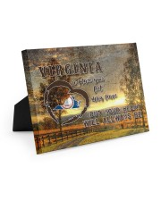 Virginia A Place Your Feet May Leave Easel-Back Gallery Wrapped Canvas tile