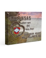 Arkansas A Place Your Feet May Leave Gallery Wrapped Canvas Prints tile