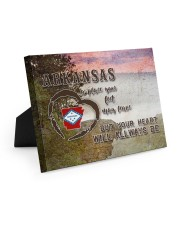 Arkansas A Place Your Feet May Leave Easel-Back Gallery Wrapped Canvas tile