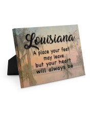 Louisiana A Place Your Feet May Leave Easel-Back Gallery Wrapped Canvas tile