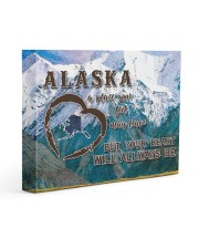 Alaska A Place Your Feet May Leave Gallery Wrapped Canvas Prints tile