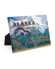 Alaska A Place Your Feet May Leave Easel-Back Gallery Wrapped Canvas tile