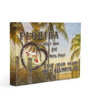 Florida A Place Your Feet May Leave Gallery Wrapped Canvas Prints tile
