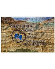 North Dakota A Place Your Feet May Leave 17x11 Poster front