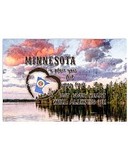 Minnesota A Place Your Feet May Leave 17x11 Poster front