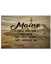 Maine A Place Your Feet May Leave 17x11 Poster front