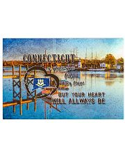 Connecticut A Place Your Feet May Leave 17x11 Poster front