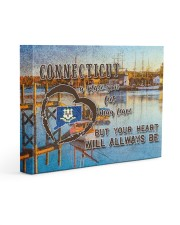 Connecticut A Place Your Feet May Leave Gallery Wrapped Canvas Prints tile