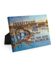 Connecticut A Place Your Feet May Leave Easel-Back Gallery Wrapped Canvas tile
