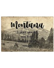 KT0001 Montana A Place Your Feet May Leave 17x11 Poster front