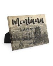 KT0001 Montana A Place Your Feet May Leave Easel-Back Gallery Wrapped Canvas tile
