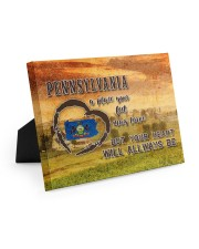 Pennsylvania A Place Your Feet May Leave Easel-Back Gallery Wrapped Canvas tile