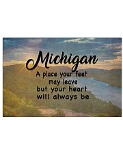 Michigan A Place Your Feet May Leave 17x11 Poster front