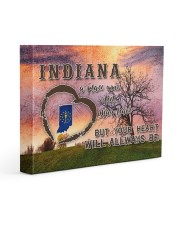 Indiana A Place Your Feet May Leave Gallery Wrapped Canvas Prints tile