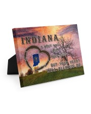 Indiana A Place Your Feet May Leave Easel-Back Gallery Wrapped Canvas tile