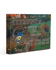 Vermont A Place Your Feet May Leave Gallery Wrapped Canvas Prints tile