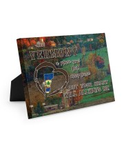 Vermont A Place Your Feet May Leave Easel-Back Gallery Wrapped Canvas tile