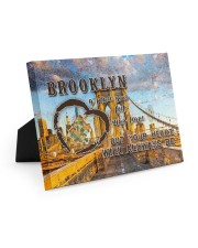 Brooklyn A Place Your Feet May Leave Easel-Back Gallery Wrapped Canvas tile