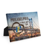 Philadelphia A Place Your Feet May Leave Easel-Back Gallery Wrapped Canvas tile