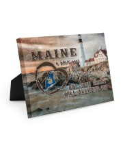 Maine A Place Your Feet May Leave Easel-Back Gallery Wrapped Canvas tile