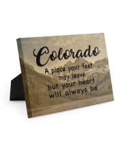 Colorado A Place Your Feet May Leave Easel-Back Gallery Wrapped Canvas tile