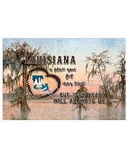 Louisiana A Place Your Feet May Leave 17x11 Poster front