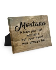 Montana A Place Your Feet May Leave Easel-Back Gallery Wrapped Canvas tile