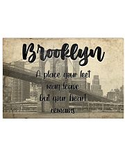 KT0001 Brooklyn A Place Your Feet May Leave 17x11 Poster front