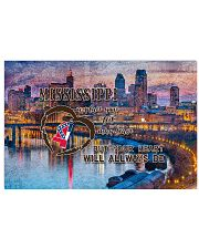 Mississippi A Place Your Feet May Leave 17x11 Poster front
